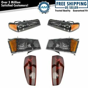 Headlight Parking Light Tail Lamp Kit Set Of 6 For 04 12 Colorado Canyon Truck