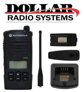 Motorola Cp110 Rdx Uhf 450 470mhz 16ch Security Portable Radio With Display