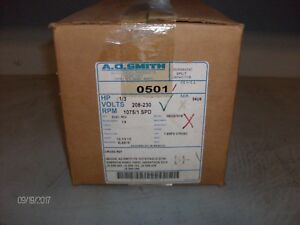 nib Ao Smith Ac Motor 0501 1 3hp 1075rpm nib