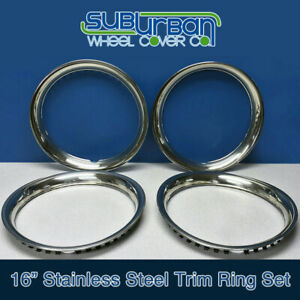 16 Stainless Steel Trim Rings Beauty Rings 1516s 1 3 4 Depth Brand New Set 4