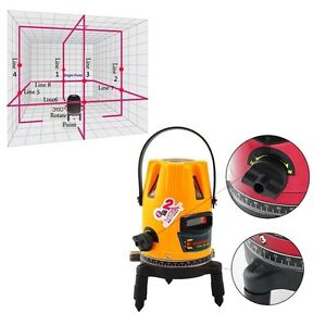 New Precise Professional Automatic Self Leveling 5 Line 1 Point 4v1h Laser Level