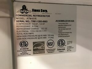 Ascend Commercial 3 Door Dual Temperature Reach In Refrigerator Cooler Freezer