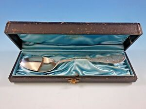 Japanese By Tiffany Co Sterling Silver Pap Invalid Spoon 7 In Original Box