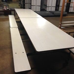 Cafeteria picnic Folding Table W Benches over 50 Available