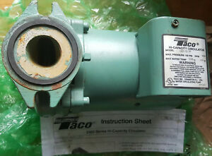 Taco 2400 50 1 2hp Cast Iron High Capacity Circulator Pump