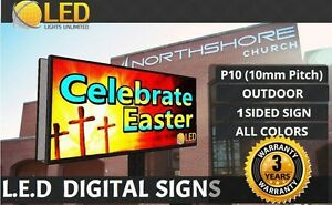 Led Digital Sign Outdoor P10 single Side full Color