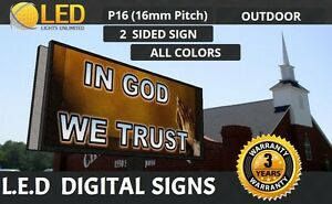 Led Digital Sign Board Outdoor P16 Mm double Sided 48 x 96 Full Color Sign