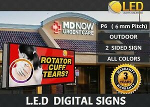 P6mm double Sided 4ft 48 X 5ft 60 Full Color Led Digital Sign Board Outdoor