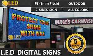 P8 4ft By 8ft 2 Sided full Color Outdoor Programmable Led Digital Sign Board