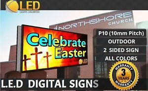 P10 2 Sided 3ft 36 X 7ft 84 full Color Led Digital Sign Board Outdoor