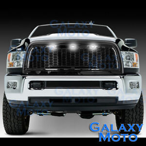 Gloss Black Replacement Mesh Grille Shell White Led For 10 18 Dodge Ram 2500 350