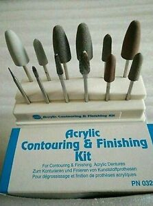 Dental Shofu Acrylic Contouring Finishing Kit Dentures Pn0329 12pcs Packing