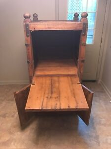 Antique Indian Wooden Teak Upright Chest Approx 200 Years Old