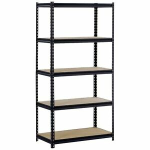 5 Shelf Metal Storage Rack Steel Shelving Adjustable Heavy Duty 36 X 18 X 72 In