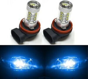 Led 80w H11 Blue 10000k Two Bulbs Head Light Low Beam Replacement Off Road