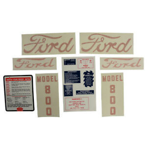 Decal Set Fits Ford Tractor 800 D 8005557