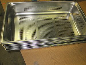New Vollrath 90043 Super Pan 3 Full size Perforated Steam Pan Stainless