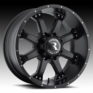 4 New 17x9 12 Raceline 991b Assault Black 8x165 1 Wheels Rims