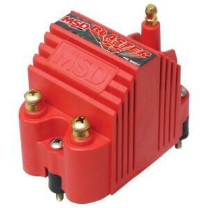 Msd Ignition 8207 Red Blaster Ss Coil Brass Terminals