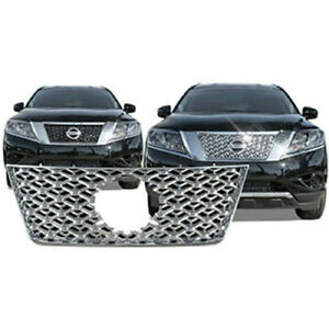 Fits 2013 2016 Nissan Pathfinder Chrome Plastic Grille Insert Cci Gi 121 New