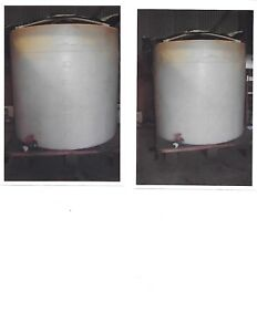 Food Grade 650 Gallon Water Tank Or Wine Vat W 2 Ball Valve