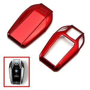 Glossy Red Key Fob Shell Cover For Bmw G11 g12 7 Series I8 Touchscreen Smart Key