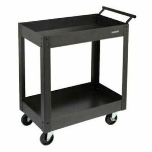 New Gray Service Cart Tools Compressor Storage Rolling Metal Heavy Duty Utility