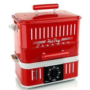 Cuizen 800 watt Hot dog Steamer With Bun Warmer
