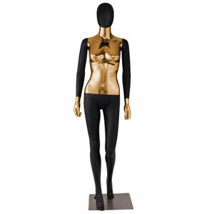 Female Mannequin Full Body Realistic Display Head Turn Dress Form W Base New