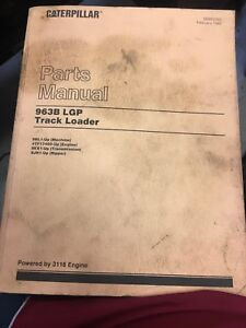 Cat Caterpillar 963 Lgp Track Loader Parts Book Manual S n 9bl1 up