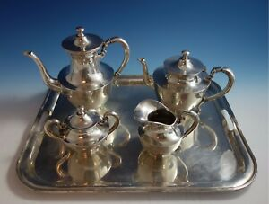 Heather Mexican Mexico Sterling Silver Tea Set 4pc With Tray 1795