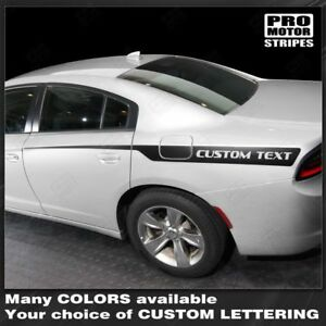 Dodge Charger 2011 2019 Rear Quarter Side Accent Stripes Decals Choose Color