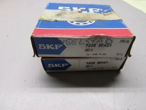 Skf 7208 Beagy Bearings Lot Of 2