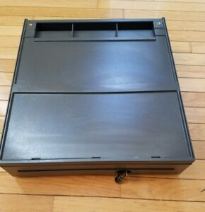 Ibm Surepos Cash Drawer With Till money Tray Lock And Key