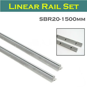 Sbr20 1500 20mm Fully Supported Cnc Linear Rail Shaft Rod Slide Guide 2pcs