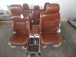 Ford F150 Front Rear Seat Set Tan Leather King Ranch Power Heat 11 12 13 14