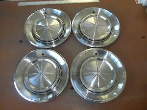 1960 60 Lincoln Hubcap Rim Wheel Cover Hub Cap 14 Oem Used Ah 2 Set 4