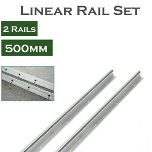 2x Sbr20 500mm Fully Supported Guide For Cnc Linear Rail Shaft Rod