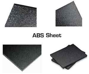 1 Sheet Abs Black Plastic Texture smooth Car Stereo 125 1 8 X 30 X 48