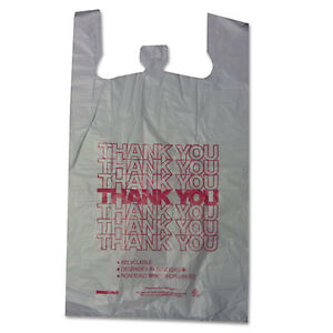 Bpc18830thyou Thank You High density Shopping Bags 18w X 8d X 30h White