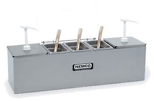 Nemco 88100 cb 2 Roll a grill Condiment Station 25 75 w X 8 d 2 3 Qt Stainl