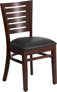 Flash Furniture Wooden Restaurant Chair Darby Series Xu dg w0108 wal blkv gg