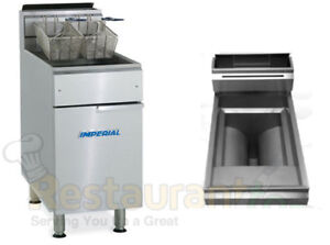 Imperial Commercial Gas Fryer open Pot natural Gas Model Ifs 75 op