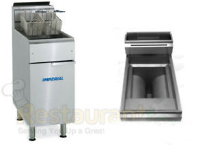 Imperial Commercial Fryer Open Pot Natural Gas Model Ifs 50 op
