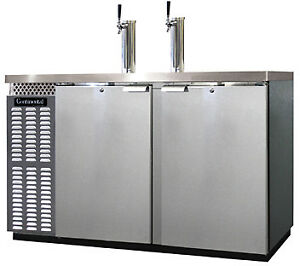 Continental Draft Beer Cooler 50 Wide Kc59 ss
