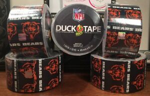 5 Rolls Duck Brand Chicago Bears Nfl Logo Duct Tape 1 88 X 10 Yards Ea sealed