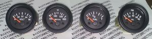 Gauges Set 4 Pc Oil Pressure Temperature Volt Fuel Gauge 2 Electric