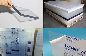 Clear Lexan Polycarbonate Plastic Sheet Vacuum forming Window 250 X 48 X 48