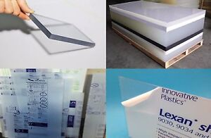 Clear Polycarbonate Sheet 48 X 48 X 1 4 Lexan Makrolon Vacuum Forming