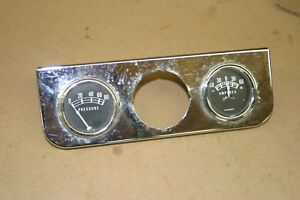 Stewart Warner Sw Gauges Triple Gauge Under Dash Panel Hot Rat Rod Model A T
